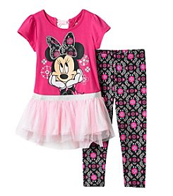 Disney® Girls' 2T-4T Minnie Top And Leggings Set