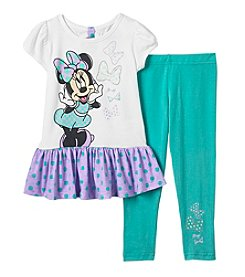 Disney® Girls' 2T-6X Minnie Bow Pullover And Leggings Set