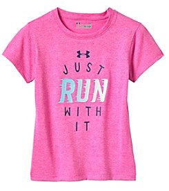 Under Armour® Girls' 4-6X  Short Sleeve Just Run With It Tee