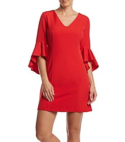 Nicole Miller New York Ruffle Sleeve Dress