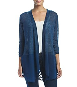 August Silk Slub Chiffon Cardigan