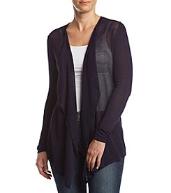 August Silk Draped Collar Cardigan