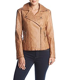 Max Studio Edit Faux Leather Jacket