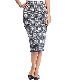 Max Studio Edit Tile Knit Skirt