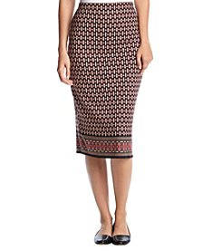Max Studio Edit Geometric Knit Skirt