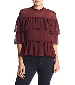 Max Studio Edit Tiered Ruffle Blouse
