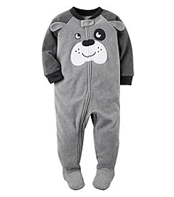 Carter's Boys' 12M-4T One Piece Dog Fleece Pajamas