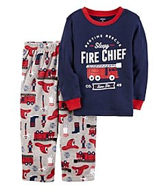 Carter's Boys' 12M-4T 2 Piece Fire Chief Cotton and Fleece Pajamas