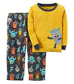 Carter's Boys' 12M-12 2 Piece Monster Cotton and Fleece Pajamas