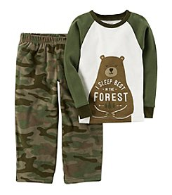 Carter's Boys' 12M-14 2 Piece Bear Fleece Pajamas