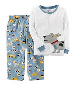 Carter's Boys' 12M-12 2 Piece Dog Fleece Pajamas