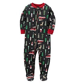 Carter's Boys' 3T-8 One Piece Christmas Fleece Pajamas