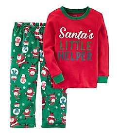 Carter's Boys' 12M-8 2 Piece Christmas Cotton and Fleece Pajamas
