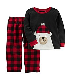 Carter's Boys' 12M-8 2 Piece Christmas Fleece Pajamas