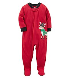 Carter's Boys' 2T-4T One Piece Reindeer Fleece Pajamas