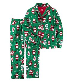 Carter's Boys' 2T-8 2 Piece Christmas Cotton Fleece Pajamas