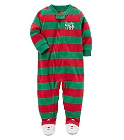 Carter's Boys' 2T-4T Zip-Up Christmas Fleece Sleep and Play