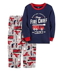 Carter's Boys' 4-12 2 Piece Fire Chief Cotton and Fleece Pajamas