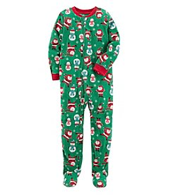 Carter's Boys' 4-12 One Piece Christmas Fleece Pajamas