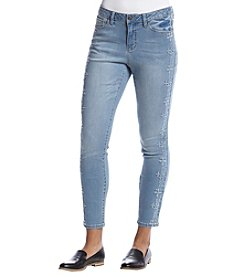 Earl Jean® Blue Embroidered Denim Jeans