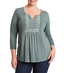 Oneworld® Plus Size Embroidered Top