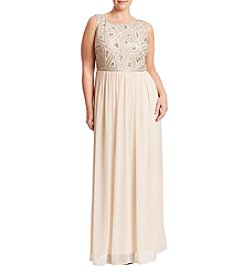 Adrianna Papell® Plus Size Beaded Bodice Dress
