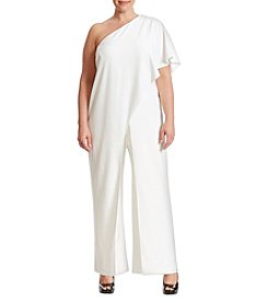 Adrianna Papell® Plus Size One Shoulder Jumpsuit