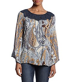 Oneworld® Printed Paisley Top