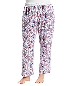 KN Karen Neuburger Plus Size Paisley Sleep Pants