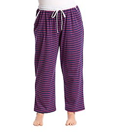 KN Karen Neuburger Plus Size Striped Sleep Pants