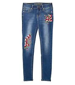 Vigoss® Girls' 7-16 Flower Embroidered Skinny Jeans