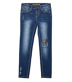 Vigoss® Girls' 7-16 Sequin Star Patch Skinny Jeans