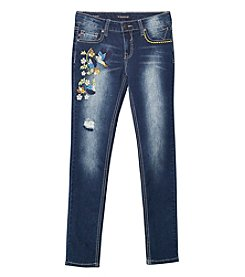 Vigoss® Girls' 7-16 Hummingbird Embroidered Skinny Jeans