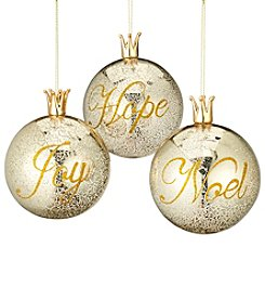 CASA by Victor Alfaro Set of Three Hope, Joy, Noel Ornaments