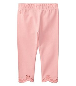Polo Ralph Lauren® Girls' 2T-18 Scalloped Hem Leggings