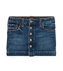 Polo Ralph Lauren® Girls' 2T-16 Button-Front Denim Skirt