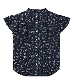 Polo Ralph Lauren® Girls' 5-16 Floral Printed Ruffle Shirt