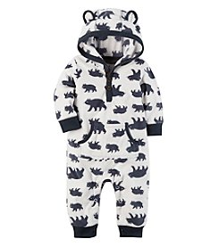 Carter's Baby Boys' Hooded Fleece Jumpsuit