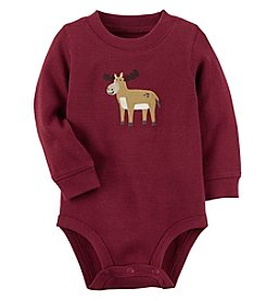 Carter's Baby Boys' Thermal Moose Character Bodysuit
