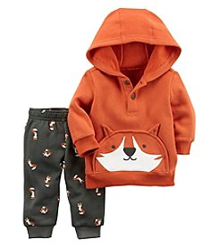 Carter's Baby Boys' 2 Piece Fox Henley Top and Fleece Jogger Set