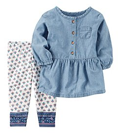 Carter's Baby Girls' 2-Piece Chambray Tunic and Pants Set