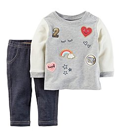 Carter's Baby Girls' 2-Piece Patch Top and Jeggings Set