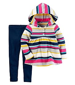 Carter's Baby Girls' 2-Piece French Terry Hoodie and Leggings Set