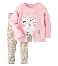 Carter's Baby Girls' 2-Piece French Terry Top and Leggings Set