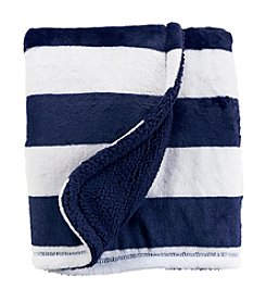 Carter's Baby Boys' Striped Plush Blanket