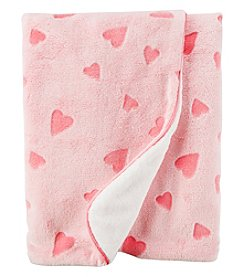 Carter's Baby Girls' Heart Plush Blanket