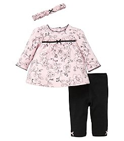 Little Me® Baby Girls' Flower Toile Tunic Set