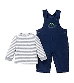 Little Me® Baby Boys' Dashing Dinos Overall Set