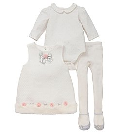 Little Me® Baby Girls' Snow Princess Jumper and Tights Set