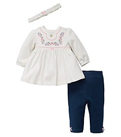 Little Me® Baby Girls' Embellished Blossoms Tunic and Pants Set